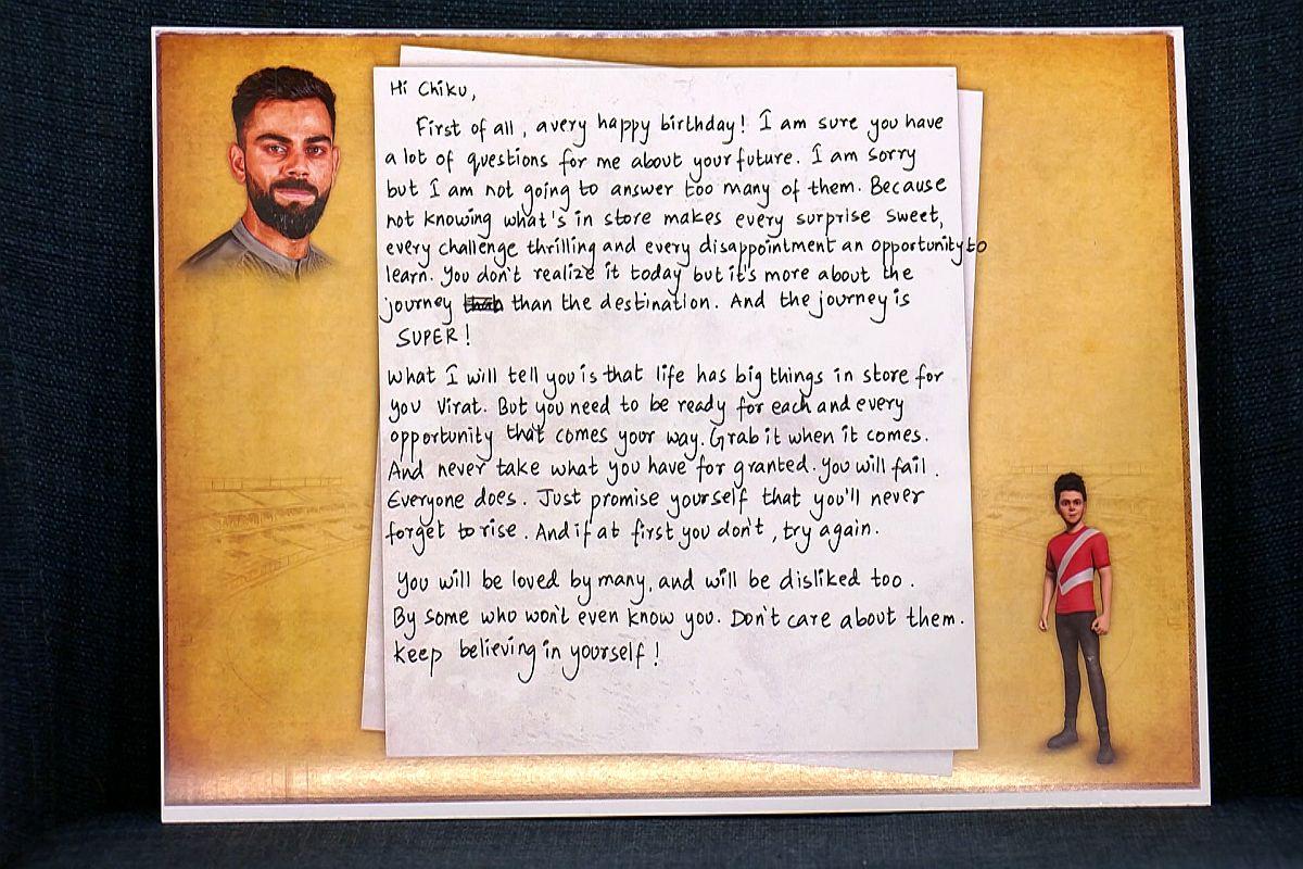 Adarsh Maharashtra   वाढदिवसाच्या निमित्ताने विराटला आलेलं एका खास व्यक्तीचं पत्र