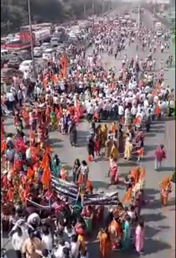 Adarsh Maharashtra | सानपाड़ात प्रस्तावित मस्जिद विरोधात रास्ता रोको