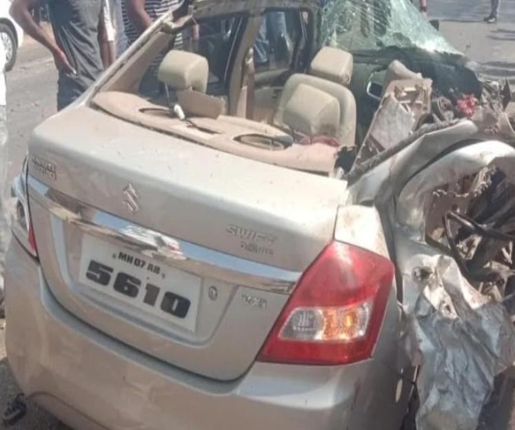Adarsh Maharashtra | पुणे-बंगळूर महामार्गावर कार-ट्रकचा भीषण अपघात, चार ठार